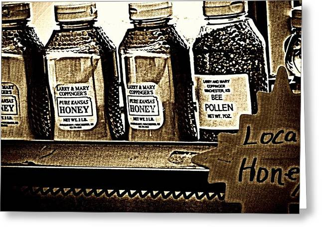 Local Honey Greeting Card by Chris Berry
