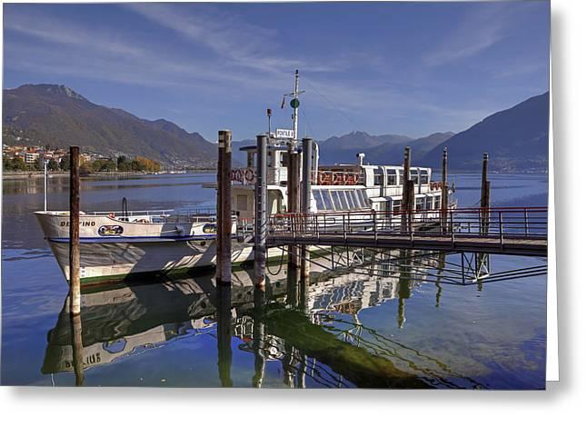 Lake Maggiore Greeting Cards - Locarno Lake Maggiore Greeting Card by Joana Kruse