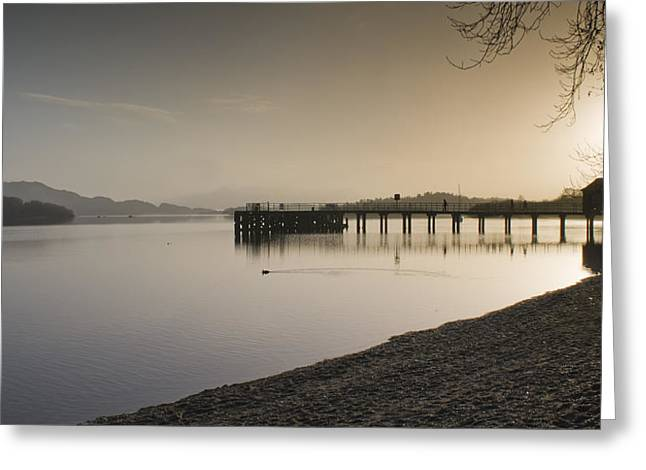 Take The High Road Greeting Cards - Loch Lomond Greeting Card by Sam Smith