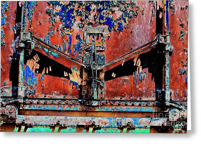 Rusted Cars Digital Art Greeting Cards - Lock-Down in abstract Greeting Card by Paul W Faust -  Impressions of Light