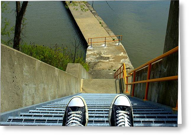 Keds Greeting Cards - Lock E5 Stairway Greeting Card by Bruce Carpenter