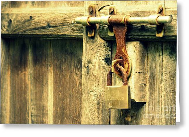 Vishakha Greeting Cards - Locked and abandoned - 2 Greeting Card by Vishakha Bhagat