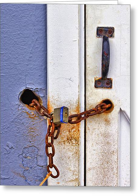 York Beach Photographs Greeting Cards - Locked Out Greeting Card by Evelina Kremsdorf