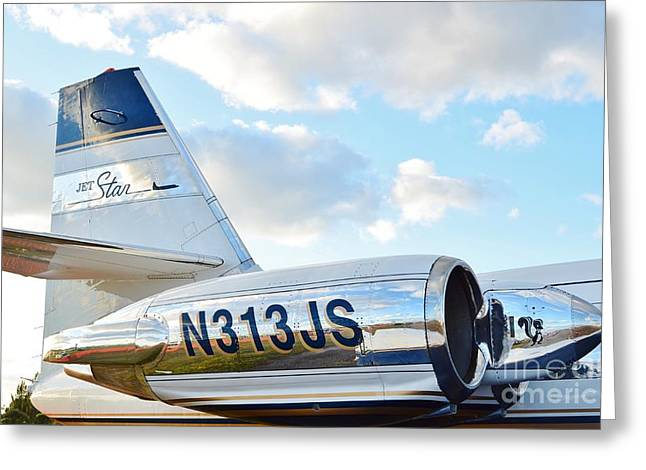 Fixed Wing Multi Engine Greeting Cards - Lockheed Jet Star Greeting Card by Lynda Dawson-Youngclaus