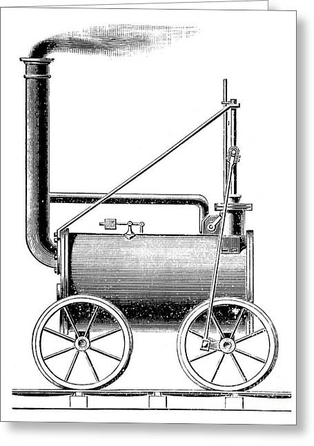 Trevithick Greeting Cards - Locomotive, 1803 Greeting Card by Granger