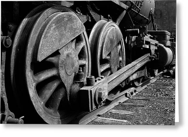 Locomotive Wheels Greeting Cards - Locomotive Greeting Card by Joe Bonita