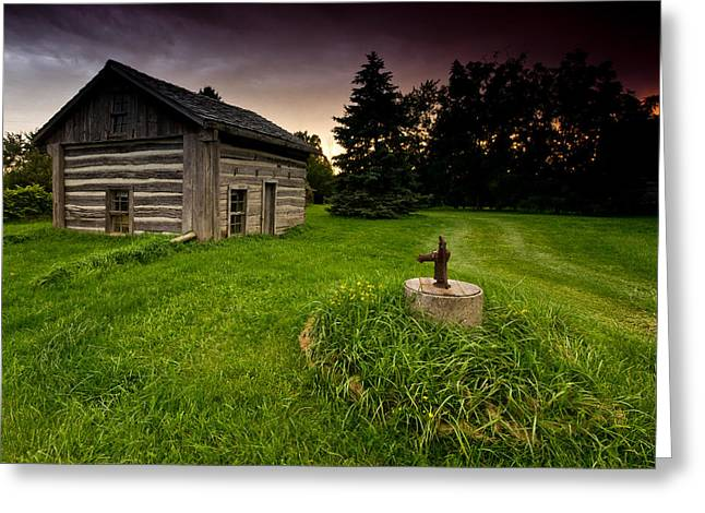 Log Cabins Photographs Greeting Cards - Log Cabin Greeting Card by Cale Best