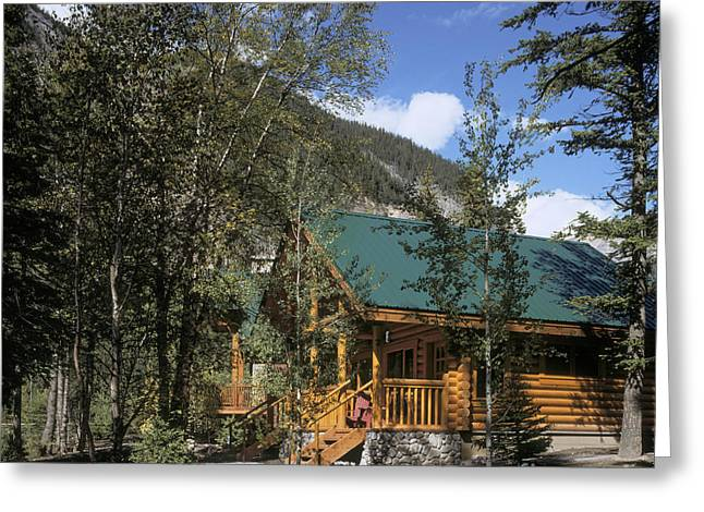 Log Cabins In The Mountains Greeting Card by Robert Pisano
