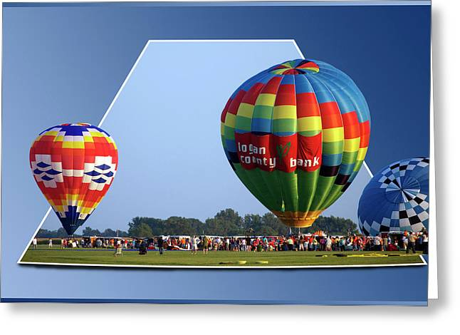 Logan County Bank Balloon 05 Greeting Card by Thomas Woolworth