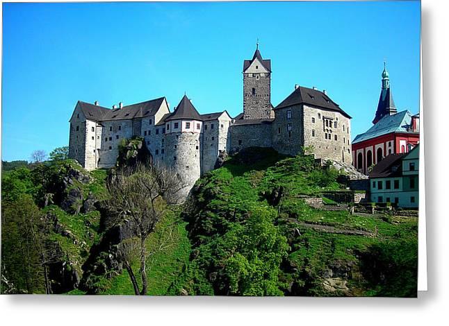 Loket Greeting Cards - Loket Castle  Greeting Card by Juergen Weiss
