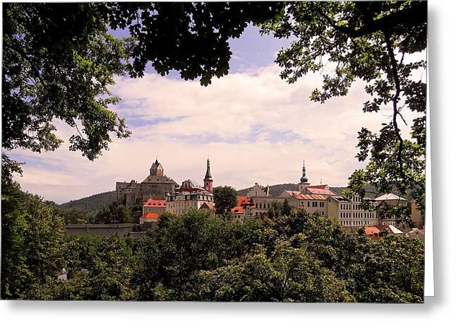 Himmel Greeting Cards - Loket - Czech Republic Greeting Card by Juergen Weiss