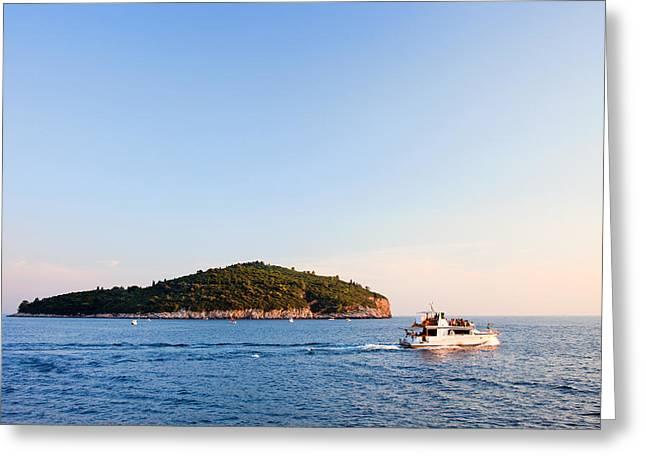Famous Ocean Photographers Greeting Cards - Lokrum Island Greeting Card by Artur Bogacki