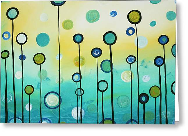 Abstract Style Greeting Cards - Lollipop Field by MADART Greeting Card by Megan Duncanson