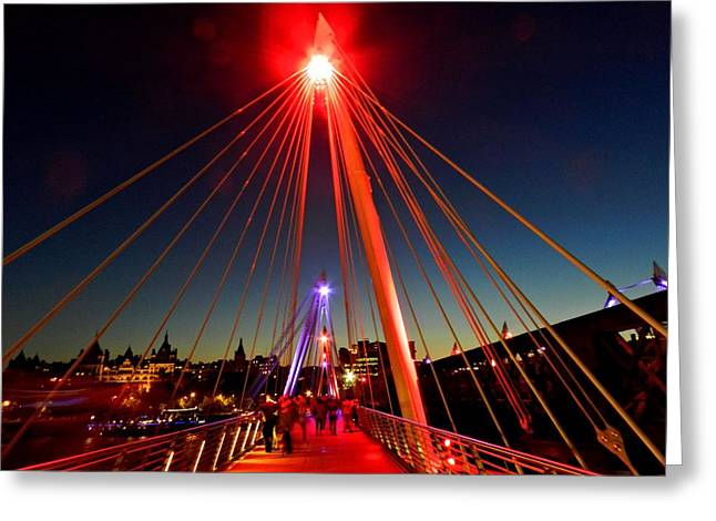 Charing Cross Bridge Greeting Cards - London 109 Greeting Card by Lance Vaughn