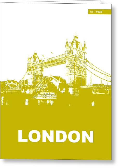 Thames Greeting Cards - London Bridge Poster Greeting Card by Naxart Studio