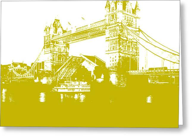 London Bridge Poster Greeting Card by Naxart Studio