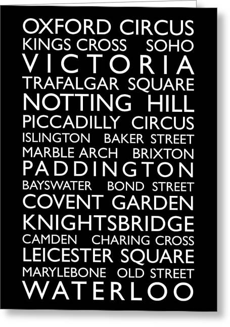 London City Map Greeting Cards - London Bus Roll Greeting Card by Michael Tompsett