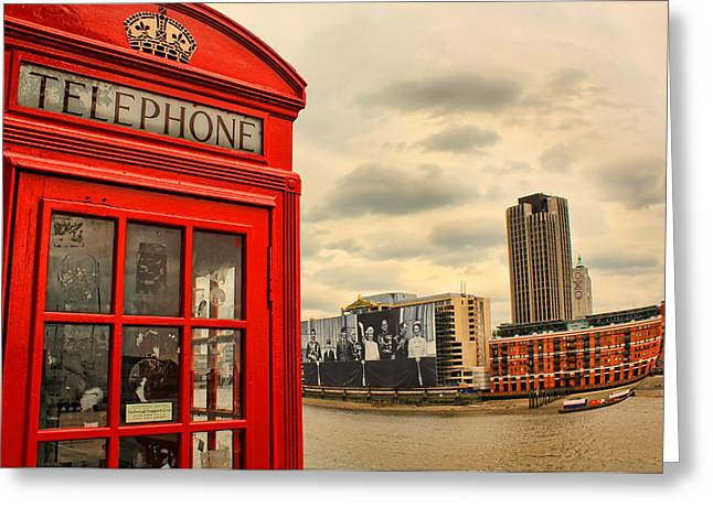 Royal Family Arts Greeting Cards - London calling Greeting Card by Jasna Buncic