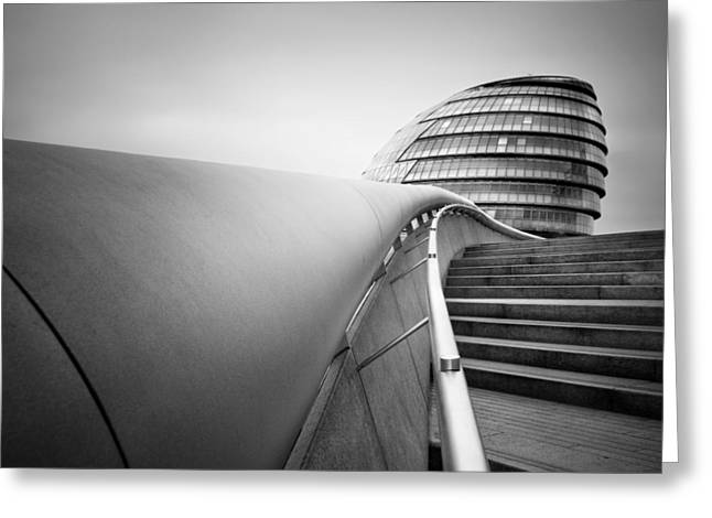 Normans Greeting Cards - London City Hall Greeting Card by Nina Papiorek
