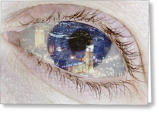 Creative Manipulation Greeting Cards - London Eye Greeting Card by Alice Gosling