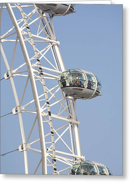 Capsule Greeting Cards - London Eye Greeting Card by Chris Dutton