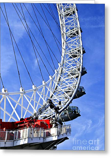 London Structure Greeting Cards - London Eye Greeting Card by Elena Elisseeva
