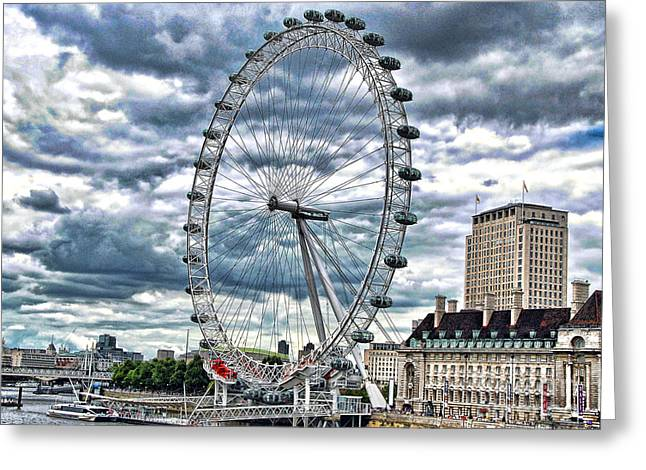 Photographic Print Box Greeting Cards - London Eye Greeting Card by Graham Taylor