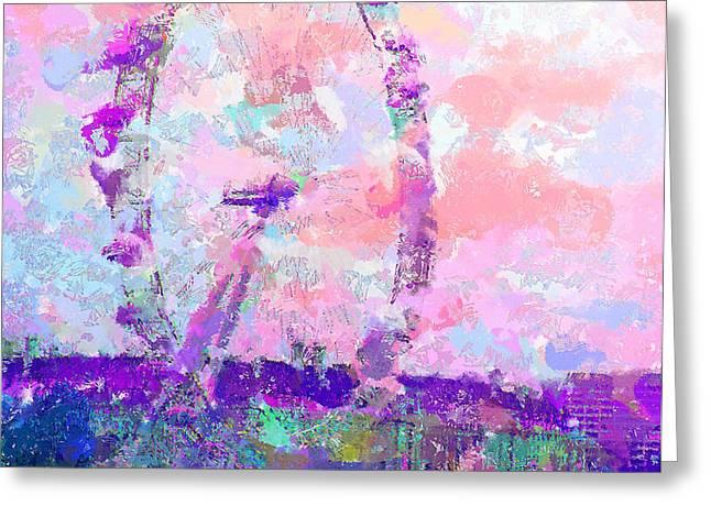 London Eye Greeting Card by Marilyn Sholin
