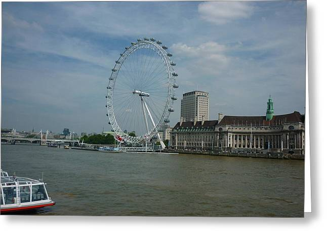 Londoneye Greeting Cards - London Eye Greeting Card by Ronald Osborne