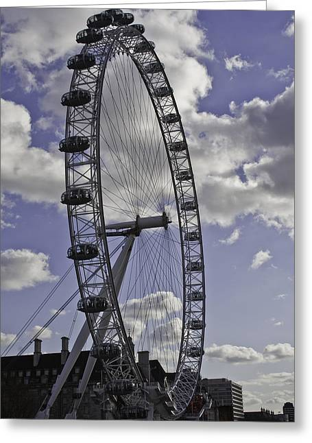 London Eye River Cruise Greeting Cards - London Eye Greeting Card by Sebastian Condrea