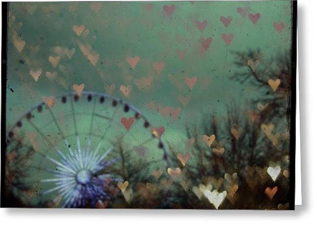 Fun Fair Greeting Cards - London Ferris Wheel Greeting Card by Nomad Art And  Design
