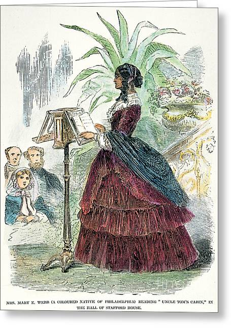 Uncle Tom Greeting Cards - London: Freedwoman, 1856 Greeting Card by Granger