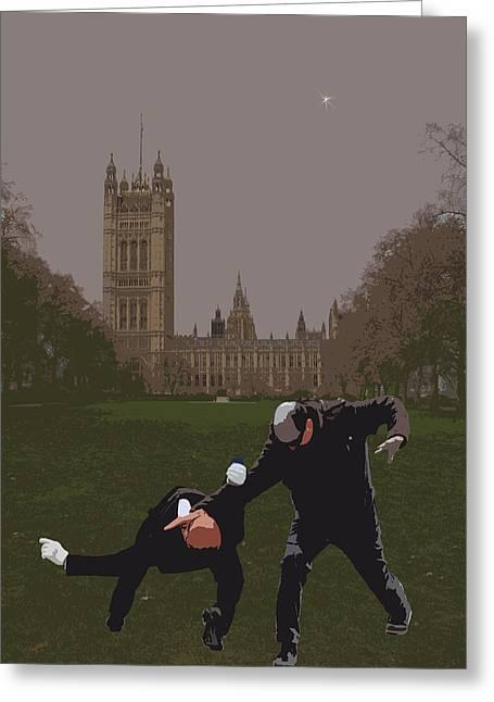 Martial Arts Greeting Cards - London Matrix Martial arts Smith Greeting Card by Jasna Buncic