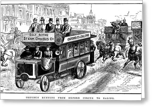 Omnibus Greeting Cards - London Omnibus, 1898 Greeting Card by Granger