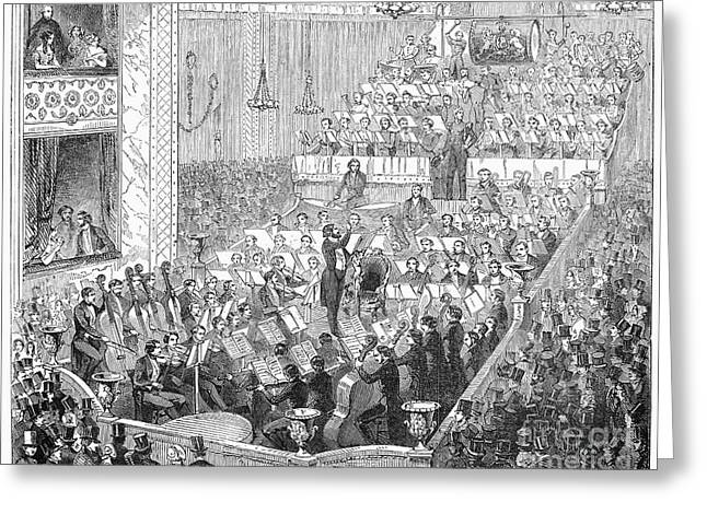 Music Stand Greeting Cards - London: Orchestra, 1846 Greeting Card by Granger