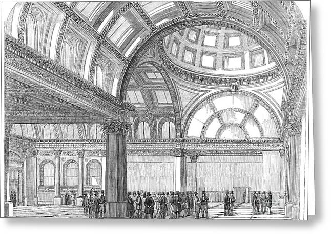 Stockbroker Greeting Cards - London: Royal Exchange Greeting Card by Granger