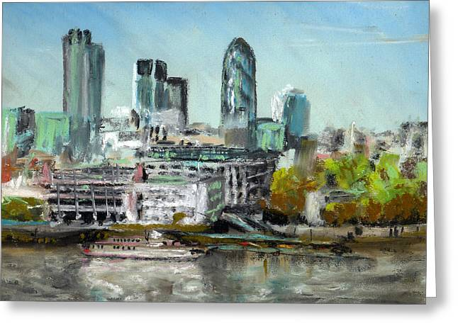 London Pastels Greeting Cards - London Skyline Greeting Card by Paul Mitchell