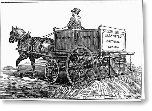 1874 Greeting Cards - London: Street-washer Greeting Card by Granger