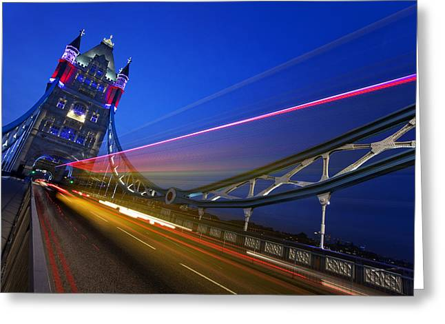 Gb Greeting Cards - London Tower Bridge Greeting Card by Nina Papiorek
