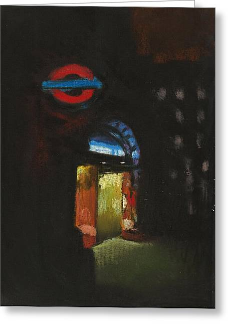London Pastels Greeting Cards - London Tube 4 Greeting Card by Paul Mitchell