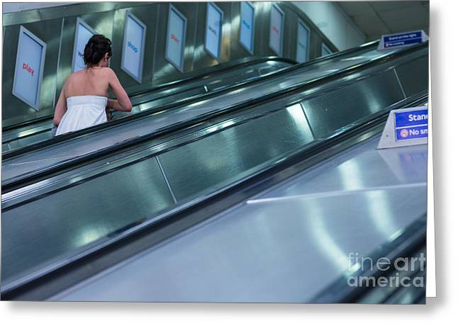 Europe Greeting Cards - London Underground Greeting Card by Andrew  Michael