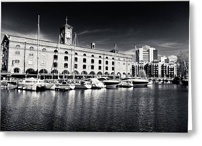 Runnycustard Greeting Cards - London Yachts Greeting Card by Lenny Carter