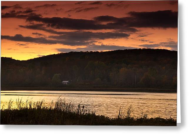 Sunset Scenes. Greeting Cards - Lone Cabin Greeting Card by Cale Best