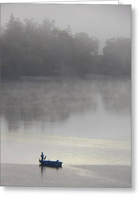 Decorative Fish Greeting Cards - Lone Fisherman Greeting Card by Steven Huszar