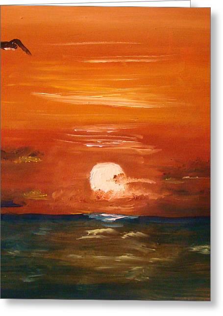 Surf City Greeting Cards - Lone Gull Greeting Card by Joe Byrd
