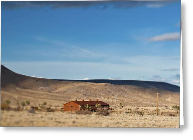 Pioneertown Greeting Cards - Lone House in the Desert Greeting Card by Eddy Joaquim