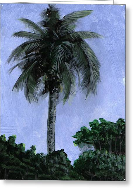 Water Grouper Print Greeting Cards - Lone Palm Greeting Card by Edward Walsh