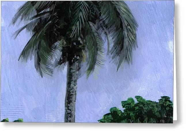 Lone Palm Greeting Card by Edward Walsh