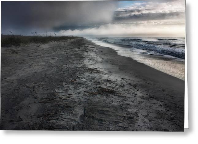 Matt Trimble Greeting Cards - Lonely Beach Greeting Card by Matt  Trimble