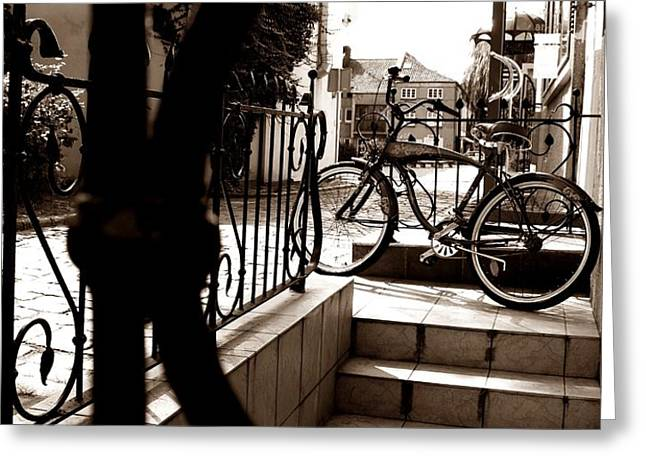 Lonely bike Greeting Card by Birut Ces